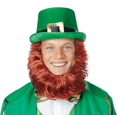 Leprechaun Lucky Charm Irish Costume Hat with Beard - Leprechaun Beards