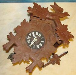 Vintage German Cuckoo Clock Mfg Company 00/171 Mvmt Bird Black Forest J181