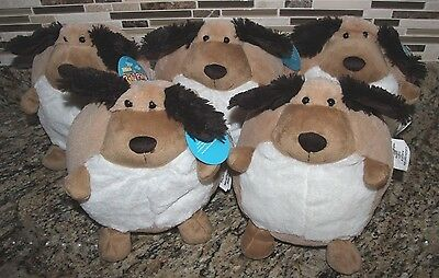 Dog Brown Mini Roly Poly Pals Stuffed Animals 9 inch Round Pillow- Easter Idea