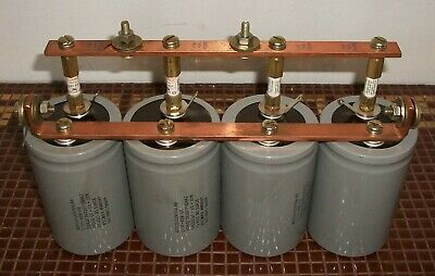 Mepco Dc Capacitor Bank. 75 Vdc 39000 Uf Each. 4 Caps With Copper Busbars.