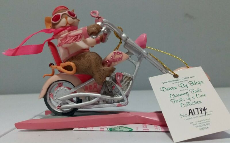 """Charming Tails """"DRIVEN BY HOPE"""" Figure Trails Of A Cure Collection A1734"""
