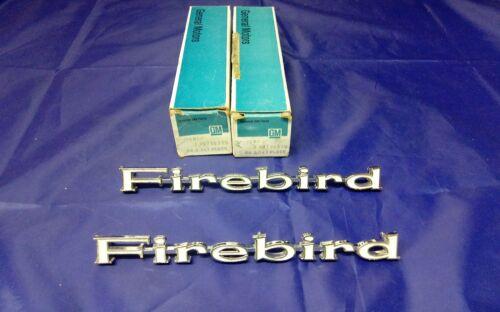 1969 PONTIAC FIREBIRD EMBLEM PAIR NOS GM # 9796319