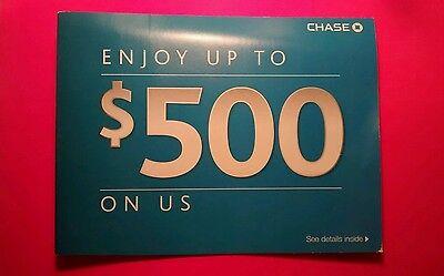 Chase $500 Bonus: $300 Checking $200 Savings - NoW or FAST SHIP!  exp: Sep 30