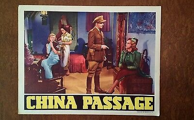 1937 Original Lobby Card - China Passage - 11x14, Rare, Great!