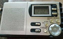 Portable ~ Digital Radio ~ AM/FM ~ Alarm Clock ~ 9PR ~ Miniature ~ Hand Strap