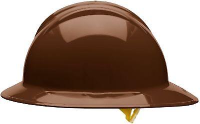 Bullard Full Brim Hard Hat With 6 Point Pinlock Suspension Brown
