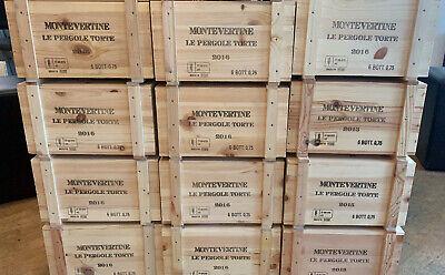 6X PERGOLE TORTE 2016 MONTEVERTINE IN WOOD BOX- Masseto sassicaia tignanello