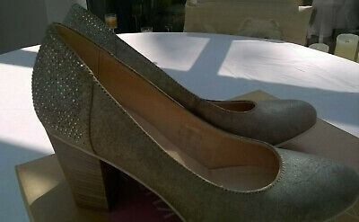 Khrio ladies pell metal army size 38/5uk heel shoe outer leather
