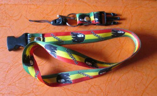 Lanyard Neck Strap Bob Marley Jamaica Freedom