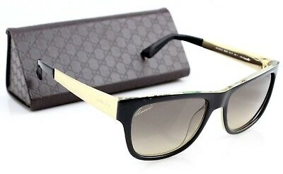 decbfcc816a0e RARE NEW GUCCI Black Crystal Gold Flower Fantasy Sunglasses GG 3802S NIE ED