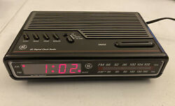 Vintage GE 7-4612B AM/FM Alarm Clock Radio Digital LED W/Battery Backup