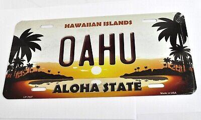 USA Auto Nummernschild License Plate Deko Blechschild Hawaii Oahu Aloha State