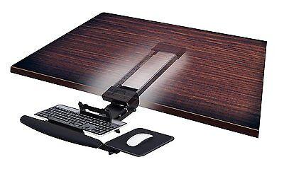 Mount-It! Underdesk Keyboard Drawer Adjustable Platform Gel Wrist Pad Mouse Pad