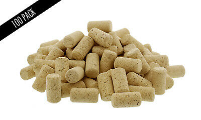 "Bulk Wine Corks 1-¾"" x 15/16"" Fit Most Bottles, 100 Pack, Straight Un-Recycled"