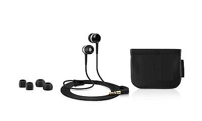 Universal Cascos Intrauriculares con Cable 3.5mm Audio Jack MP3 Música - Negra
