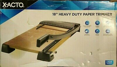 X-acto Heavy Duty Wood Base Paper Trimmer 18 Inch Cut