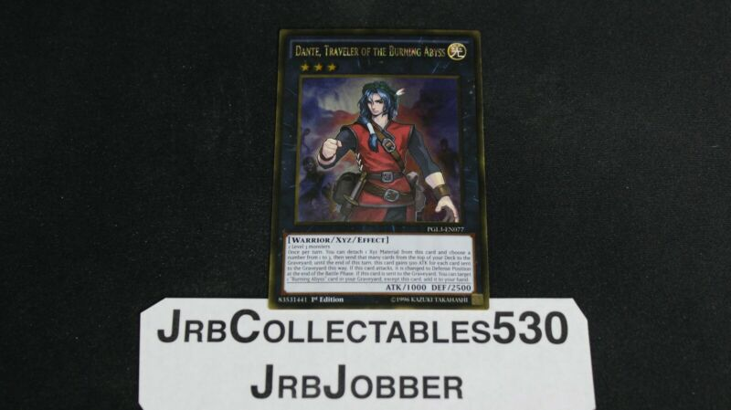 Gold Rare NM YuGiOh Dante PGL3-EN077 Traveler of the Burning Abyss