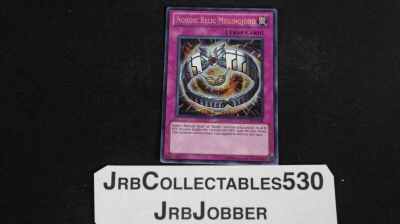 Carta YU GI OH NORDICA reliquia megingjörd STOR-de088 Secret Rare 1 EDIZIONE