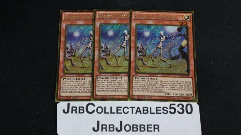 PGL3-EN028 Kozmo Strawman Gold Secret Rare 1st edition Mint YuGiOh Card