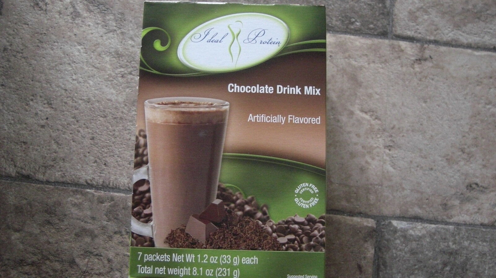 Ideal Protein Chocolate Drink Mix 7 Packets 18g Protein Per Packet