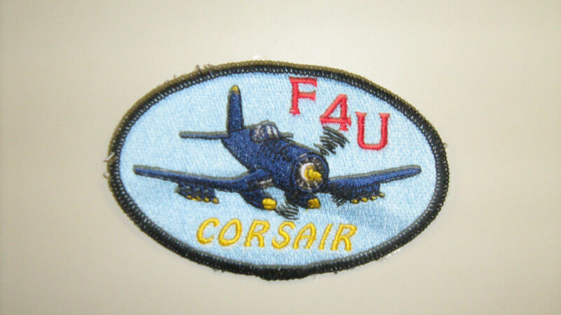 F4U Corsair USA Made Patches WWII Airplanes by All Star Warbirds Custom Emb