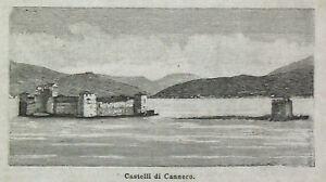 1892-Castelli-di-CANNERO-Verbania-Lago-Maggiore-Piemonte-Xilo-Passpartout-Etna