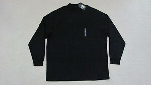 ROUNDTREE & YORKE LONG SLEEVE COTTON MOCK-NECK SHIRT - 3X-TALL -NEWwTAGS