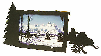 Snowmobile Single Photo Black Metal Picture Frame 3.5x5 - 3x5 H