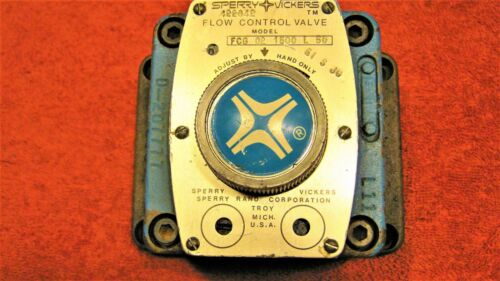 SPERRY VICKERS Flow Control Valve FCG 02 1500 L 50, sub plate, tamper proof lock