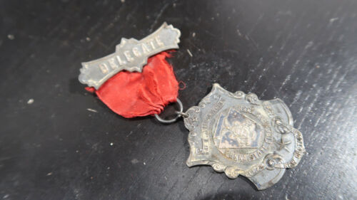 1900 PA State Convention Firefighters Medal Delegate Dover PA