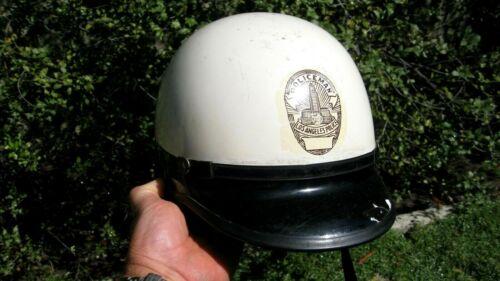 "Vintage Rare Los Angeles Police Department LAPD ""Police Man"" Duty Helmet & bag"
