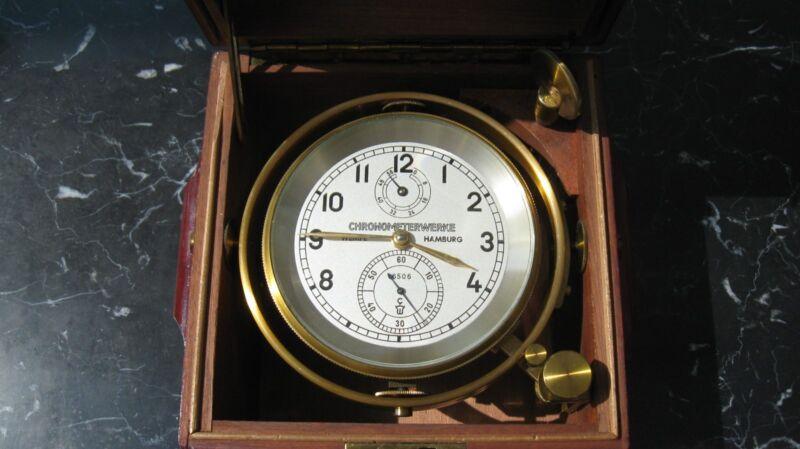 marine chronometer by Chronomerterwerke, Hamburg