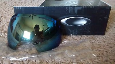 new OAKLEY AIRBRAKE REPLACEMENT lens EMERALD IRIDIUM 01-359 snow goggles  for sale  Shipping to Canada