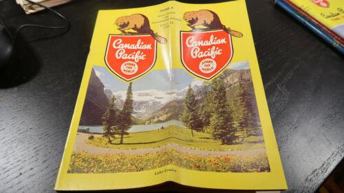 Public Timetable Canadian Pacific Railway Railroad April 29 1951