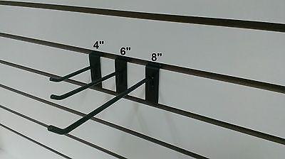4 6 8 Black Slatwall Hooks Combo 50pcs Ea.