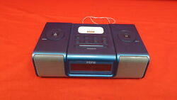 iHome IH9 Alarm Clock Speaker System With Dock For iPod Blue 5879