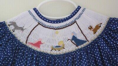 NWT Christmas Nativity Scene Smocked Bishop Girl Dress 5T (5t Christmas Dresses)