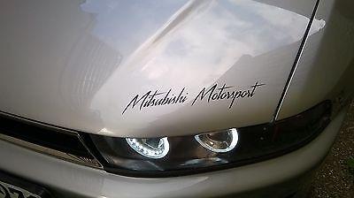 Mitsubishi Motorsport Auto Aufkleber Sticker Folie Sports Mind Limited Edition  (Mitsubishi Auto Aufkleber)