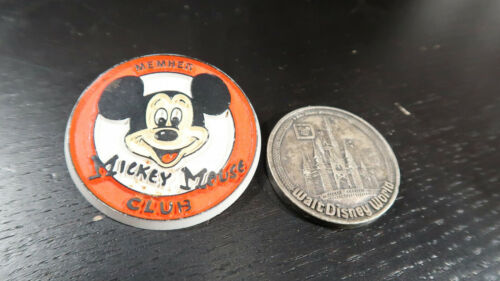 Mickey Mouse Club Button and Walt Disney World Medal
