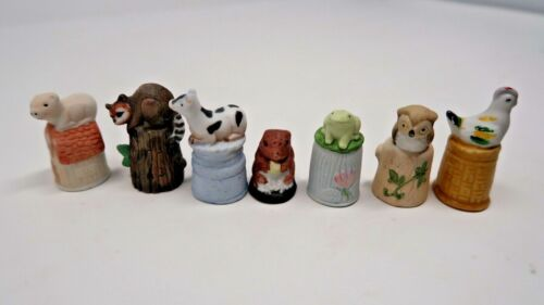 Lot of Animal Themed Thimbles