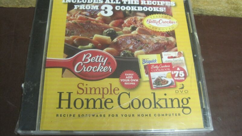 BETTY CROCKER SIMPLE HOME COOKING RECIPES FROM 3 COOKBOOKS RECIPES PC CD ROM NEW