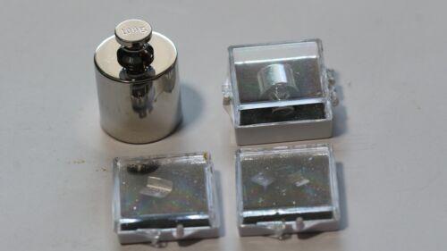 5 Calibration weights, 20mg, 50mg, 100mg, 10g and 100g.