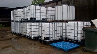 1 x IBC Container 1000 litres on Pallet Water Storage Tank Refurbed ready to use