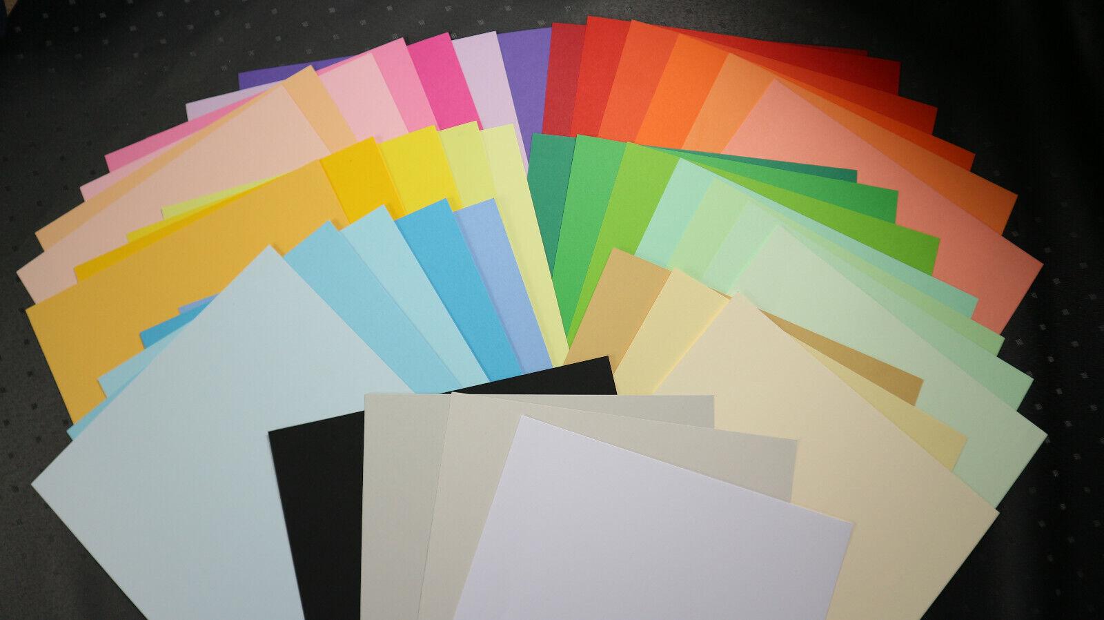 Bastelpapier Din A4 160g/m² Trophee 20/40/60/80 Blatt farbig individueller Mix