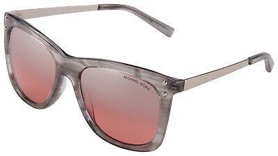 Michael Kors Lex Sunglasses MK 2046 32376A 54 Grey Tortoise | Silver / Red Flash