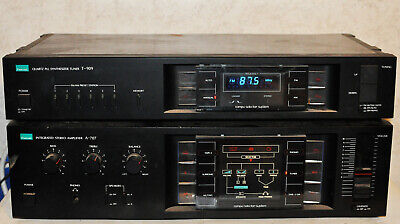 Vintage Sansui A-707 Integrated Amplifier + T-909 Stereo Tuner 1983 Tested Unit