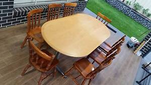 Dining Table and Chairs Glen Alpine Campbelltown Area Preview