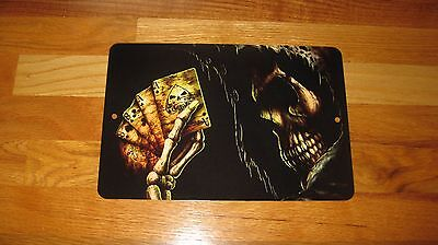 ACES and EIGHTS Aluminum Sign- Dead Mans Hand-- Cool Look Metal Sign-Poker Cards