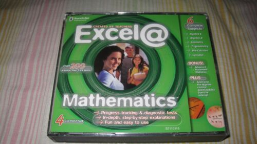EXCEL@ MATHEMATICS PC MAC CD ROM ALGEBRA GEOMETRY TRIG CALCULUS STATISTICS MATH