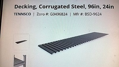 Tennsco Bsd-9624 Corrugated Steel Decking96 In. Wgray Lot Of 6 Boxes Pick Up